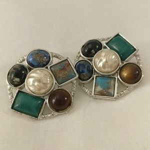 Sarah Coventry large clip on earrings